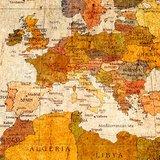 Schilderij Wereldkaart Vintage XXL [GRATIS VERZENDING]_