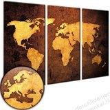 Schilderij Wereldkaart Bronze XXL [GRATIS VERZENDING]_