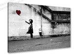 Schilderij Balloon Girl [BANKSY Graffiti Art] (80x60cm)_