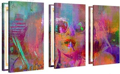 Schilderij Dolly Disco XL 3-delig (120x80cm) [Premium Collectie]