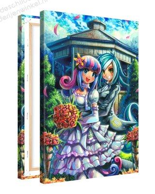 Schilderij Kleurrijke Bruiloft Anime XL (80x120cm)