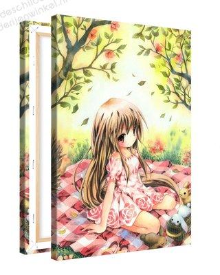 Schilderij Zonovergoten Picknick Anime XL (80x120cm)