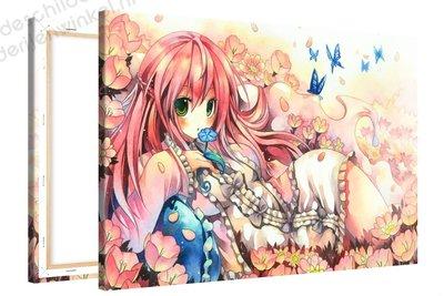 Schilderij Bloemrijk Anime XL (120x80cm)