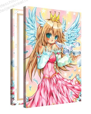 Schilderij Bellen Prinses Anime XL (80x120cm)