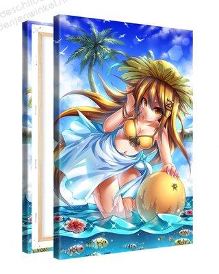 Schilderij Strandplezier Anime XL (80x120cm)