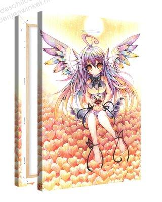Schilderij Harten Engel Anime XL (80x120cm)