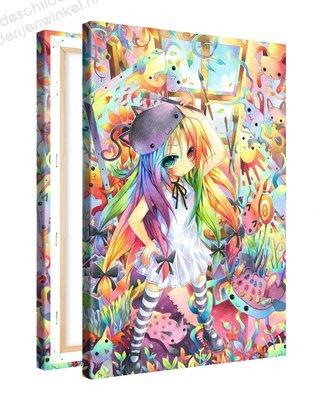 Schilderij Silky Studio Anime XL (80x120cm)