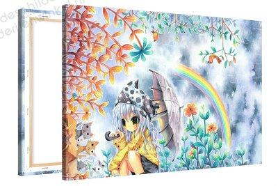 Schilderij Elaine Regenboog Anime XL (120x80cm)