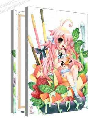 Schilderij Fruit Salade Anime XL (80x120cm)