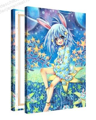 Schilderij Ster Konijntje Anime XL (80x120cm)