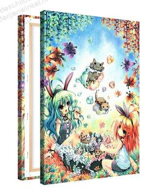 Schilderij Bellen Blazen Anime XL (80x120cm)