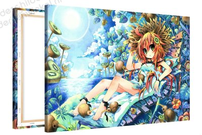 Schilderij Kiwi Vakantie Anime XL (120x80cm)