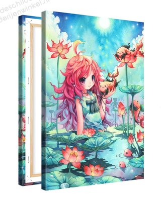 Schilderij Goddelijk Moeras Anime XL (80x120cm)
