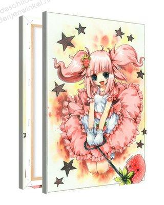 Schilderij Suikervrij Anime XL (80x120cm)