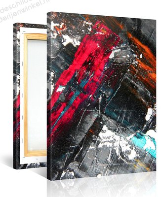 Schilderij Abstract Olieverf (75x100cm) [Premium Collectie]