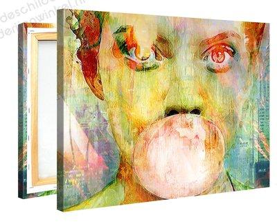 Schilderij Kauwgombel (100x75cm)