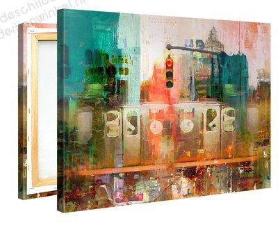 Schilderij Kruispunt Mysterie (100x75cm)