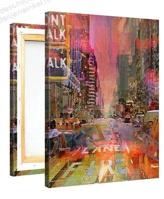 Schilderij Kruispunt Mysterie Roze (75x100cm)