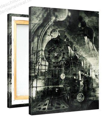 Schilderij Vintage Locomotief (75x100cm)