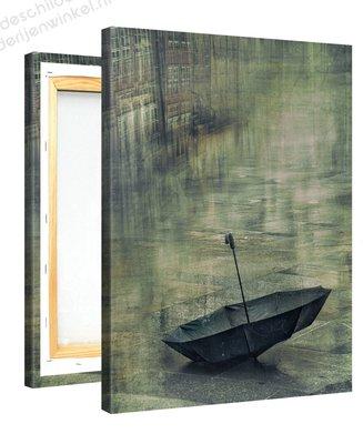 Schilderij Verloren Paraplu (75x100cm)