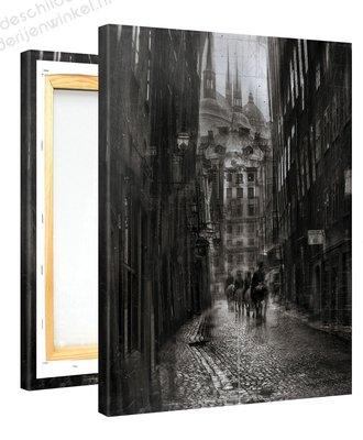 Schilderij Stadspatrouille (75x100cm)