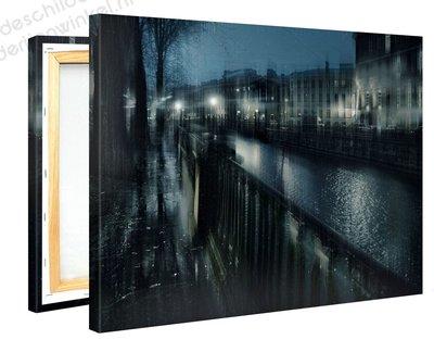Schilderij Zilverachtige Mist (100x75cm)