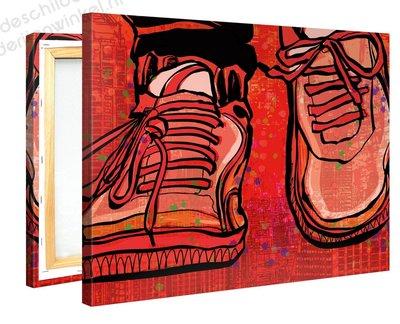 Schilderij Sportschoenen (100x75cm)