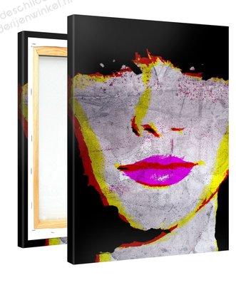 Schilderij Roze Lippen (75x100cm)