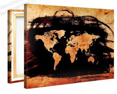 Schilderij Wereldkaart Charco (100x75cm)