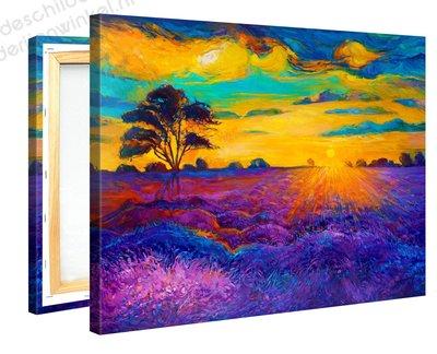 Schilderij Kleurrijke Zonsopgang (100x75cm)