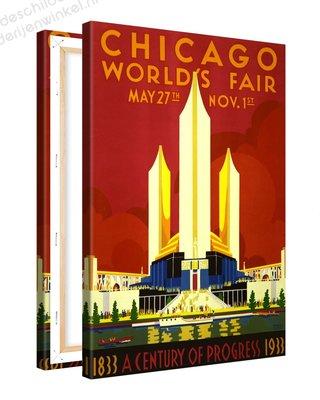 Schilderij Chicago Worlds Fair - Century of Progress XL (80x120cm)