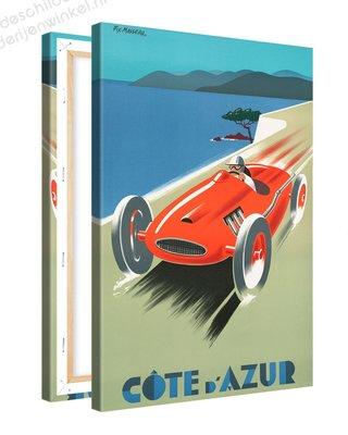 Schilderij Cote D'Azur 1988 Monte Carlo XL (80x120cm)