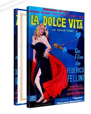 Schilderij La Dolce Vita - Federico Fellini XL (80x120cm)
