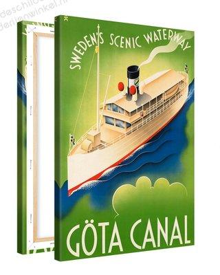 Schilderij Gota Canal Swedens Scenic Waterway XL (80x120cm)
