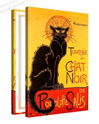 Schilderij Le Chat Noir - Rodolphe Salis XL (80x120cm)