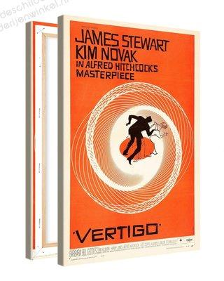 Schilderij Vertigo Alfred Hitchcock XL (80x120cm)