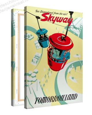 Schilderij Tomorrowland Skyway Disneyland XL (80x120cm)