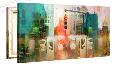 Schilderij Kruispunt Mysterie (100x50cm)