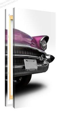 Schilderij Cadillac Roze (50x100cm)