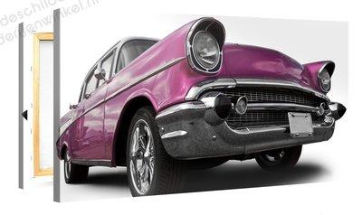 Schilderij Cadillac Roze (100x50cm)
