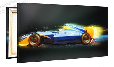 Schilderij Formule 1 Kunstwerk (100x50cm)