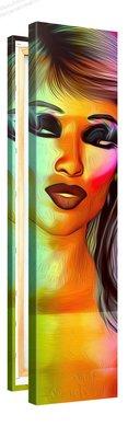 Schilderij Abstract Portret Vrouw (30x120cm) [Premium Collectie]
