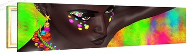 Schilderij Abstract Portret Vrouw (120x30cm) [Premium Collectie]