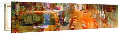 Schilderij Kruispunt Mysterie (120x30cm)