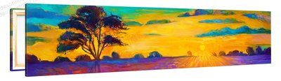 Schilderij Kleurrijke Zonsopgang (120x30cm)