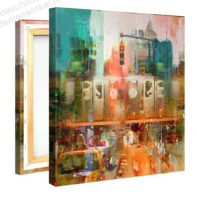 Schilderij Kruispunt Mysterie (80x80cm)