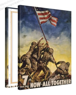 Schilderij Now All Together USA (75x100cm)