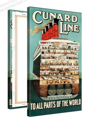 Schilderij Cunard Line (60x100cm)