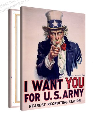 Schilderij I Want You - Uncle Sam (75x100cm)