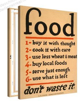 Schilderij Food Keuken (75x100cm)